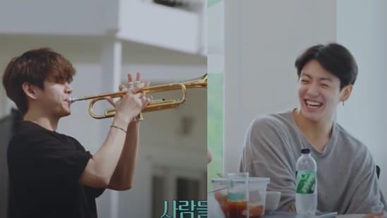BTS members V and Jungkook in the teaser of In The Soop BTS ver.