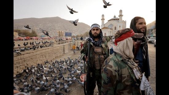 Taliban fighters patrol in Kabul, Afghanistan (REUTERSJS)