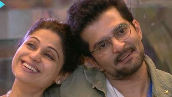 Shamita Shetty and Raqesh Bapat on Bigg Boss OTT.