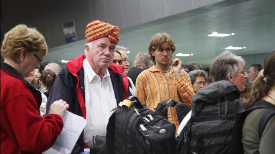Initially, for a month, the tourists will be issued visas only for travel in chartered flights, the MHA said. (HT file photo)