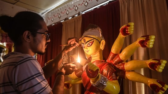 The five day festival of Durga Puja, the biggest one in West Bengal, is slated to start from October 11(AFP)