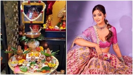 Inside Shilpa Shetty's Shardiya Navratri puja at home(Instagram/@theshilpashetty)