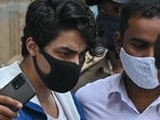 Aryan Khan was produced at the court on Friday for bail hearing in connection with the rave cruise party case.(AFP)