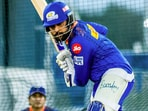 Rohit Sharma's MI need a miraculous win to reach the Playoffs.(MI/Twitter)