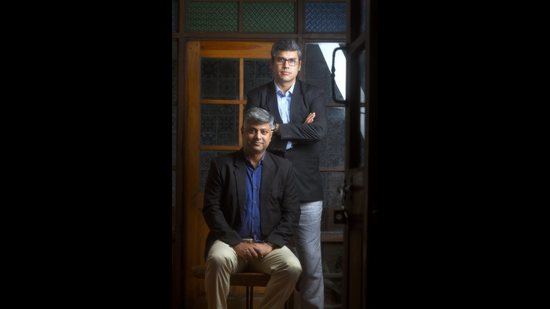 """""""Those who will fight the most to protect the environment won't be the people who are most passionate about it. It will be those whose survival, identity and culture are closely linked to the environment, be it the rivers, forest, wetlands or coasts,"""" says Ritwick Dutta (left), seen here with Rahul Choudhary. (Raj K Raj / HT Photo)"""