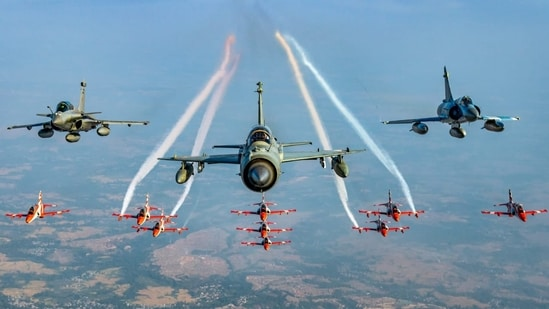 This year on Air Force Day, three units of the IAF will also receive the prestigious Chief of Air Staff Unit citation.(Photo via @narendramodi on Twitter)