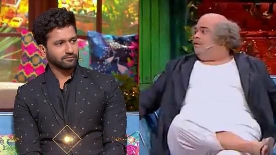 Vicky Kaushal and Kiku Sharda on The Kapil Sharma Show.