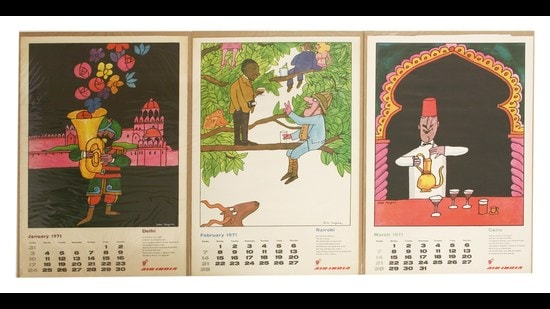 Air-India's much-sought-after hand-painted calendars. Those in private collections now fetch upwards of <span class='webrupee'>₹</span>10,000 each.