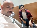Independent witness KP Gosavi took a selfie with Aryan Khan after Khan was arrested on October 3.(ANI)