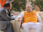 Union home minister Amit Shah reviewed the security situation along with National Security Advisor Ajit Doval on October 7.(HT Photo/Amit Shah)