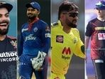 The four teams lead by their 4 charismatic captains will fight for the IPL 2021 crown.(IPL/Twitter)