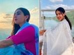 Recently, Sara Ali Khan took to her Instagram handle to share a few stills in stunning ethnic wear.(Instagram/@saraalikhan95)