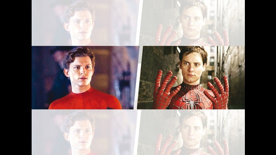 Spider-Man's No Way Home trailer with Tom (left) has sparked the debate if he has snatched the crown from the OG, Tobey (right)