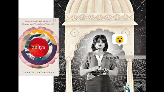 Gayatri, who has authored a book (inset), opines that we can improve the atmosphere around us, tweet by tweet, post by post, interaction by interaction (Parth Garg)