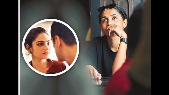 In Ria Singh's (above) film Closure (inset), a guy asks a girl multiple times if he could come over to her place, due to the Bollywood notion of romance in which pursuit eventually leads to acceptance