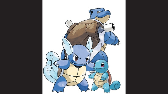 How do we process language? Why is it that you can tell, for instance, that Squirtle is the littlest of the Pokemon above; Blastoise the big one with the weaponry? (The middle one is Wartortle; all are evolutions of the same character.)