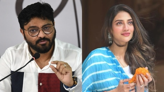 Babul Supriyo and Nusrat Jahan are among the notable names missing from the TMC list.(File Photo / HT)