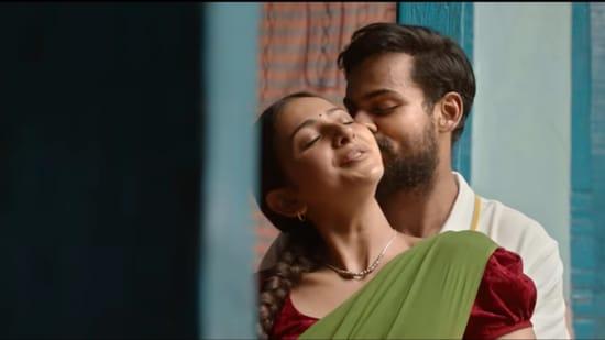 Konda Polam review: Rakul Preet Singh and Vaishnav Tej in the movie.