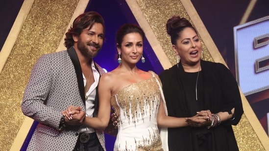 Terence Lewis, Malaika Arora and Geeta Kapur on India's Best Dancer season 2.