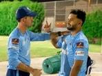 Delhi Capitals captain Rishabh Pant with coach Ricky Ponting.(Delhi Capitals)