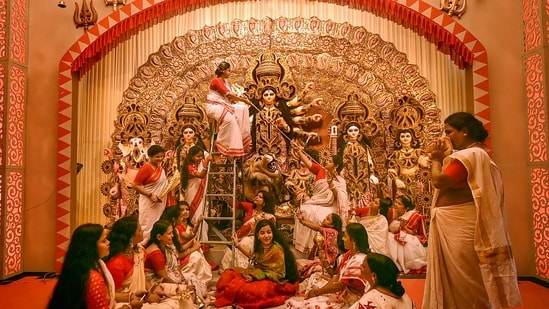 In a leg-up to the Covid-battered tourism industry in West Bengal, bookings for the Durga Puja festive season have surged beyond expectations, tour operators said.(PTI)