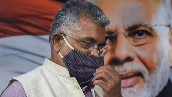BJP national vice president Dilip Ghosh said many of its slain members had actively participated in Durga Puja celebrations in their respective areas.(PTI)