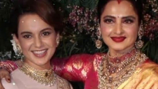 Kangana Ranaut wished Rekha on her birthday.