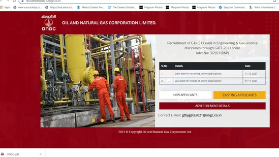 ONGC recruitment 2021: Apply for 309 vacancies, check details here