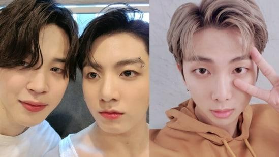 BTS members Jimin, Jungkook and RM.