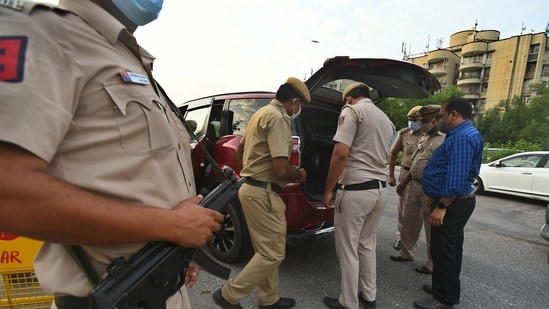 Delhi Police conducted mock drills, a senior official said.(Raj K Raj/HT File Photo/Representative Image)