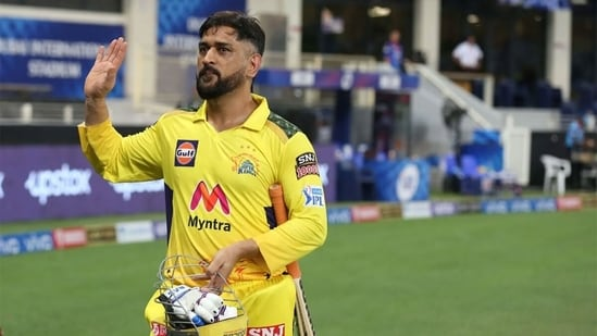 MS Dhoni tonked three fours and a six in the final over to win the match for CSK.(IPLT20)