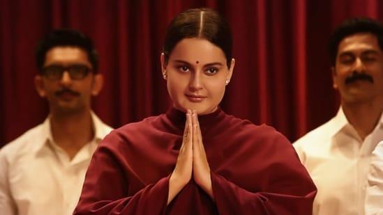 Kangana Ranaut in and as Thalaivii.
