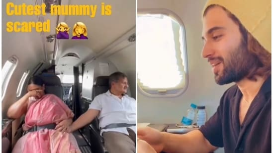 Vijay Deverakonda shared a video of his family flying in a private jet.