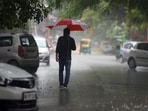 Bengaluru has been witnessing heavy rainfall since Sunday afternoon. (Hindustan Times)