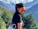 Parineeti Chopra is setting major goals for us, all the while making us miss the hills. The actor, who is freshly back from her adventures in Maldives, is off to a new location for her film shoot's schedule. And, what is a better location to travel to, when freshly back from the sea – the mountains. On Tuesday, Parineeti shared multiple pictures of herself staring right back at Mount Everest.(Instagram/@parineetichopra)