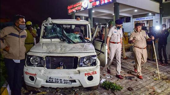 A fight between two Class IXth students in Karnataka's Bagalkote district took communal colour after members of both Hindu and Muslim groups attacked each other. (PTI)