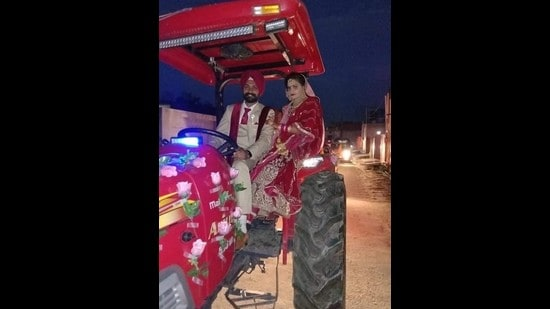 26-year-old Sepoy Gajjan Singh, who laid down his life fighting militants in Poonch sector of Jammu and Kashmir on Monday, got married in February this year. (HT Photo)