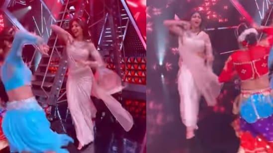 Shilpa Shetty performs garba on Super Dancer 4.