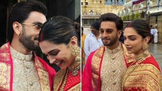 Inside Deepika Padukone, Ranveer Singh's first wedding anniversary celebrations at Tirupati with family.(Instagram)