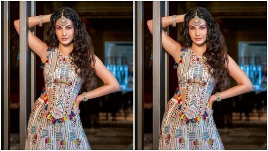 Amyra Dastur, in a <span class='webrupee'>₹</span>169K lehenga, blends contemporary and elegance(Instagram/@amyradastur93)