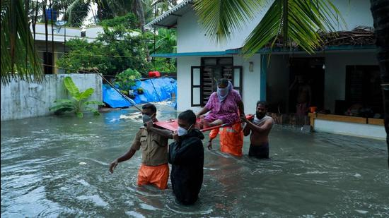 The India Metrological Department (IMD) has issued orange alert in six districts and yellow alert in four districts of Kerala till Thursday. (AFP)