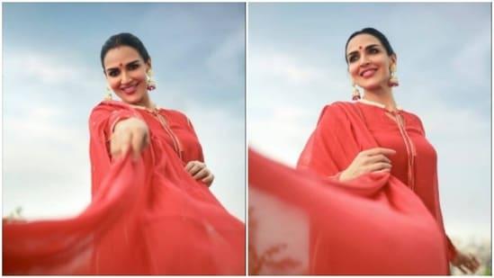 Esha Deol, in a <span class='webrupee'>₹</span>11k Kurta, sets festive fashion goals higher(Instagram/@imeshadeol)