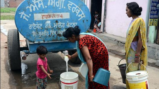 The Mohali administration has stopped water supply to the affected village in Dera Bassi and stationed water tankers instead. (Representative image)