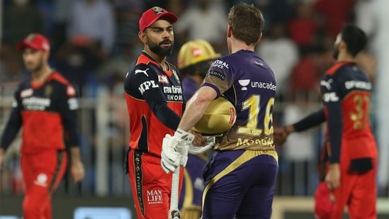 Virat Kohli's RCB lost to KKR by 6 wickets to be eliminated from IPL 2021.(Getty)