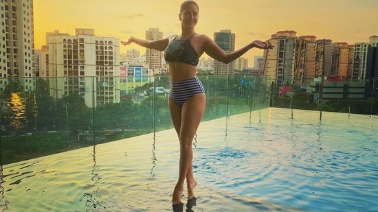 Sunny Leone at her new home in Mumbai.
