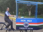 Vinisha with her solar iron cart.(Life Beyond Numbers)