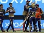 Eventually, Rahul Tripathi smashed a six on the second-last ball to take KKR to the final with a three-wicket win.(BCCI/IPL)
