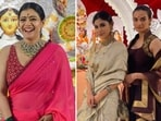 Every year several people from the film fraternity celebrate Durga Puja with their family and friends. Television actors too deck up and visit pandals to offer prayers to Goddess Durga. Here are a few pictures of celebrities celebrating Durga Puja.(Instagram, PTI)