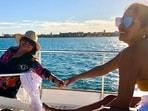 Priyanka Chopra holds mother Madhu Chopra's hand as she enjoys her day out in Spain.(Instagram)