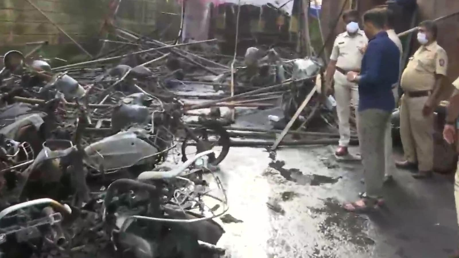 Massive fire breaks out in Mumbai's Kurla, 20 motorcycles gutted
